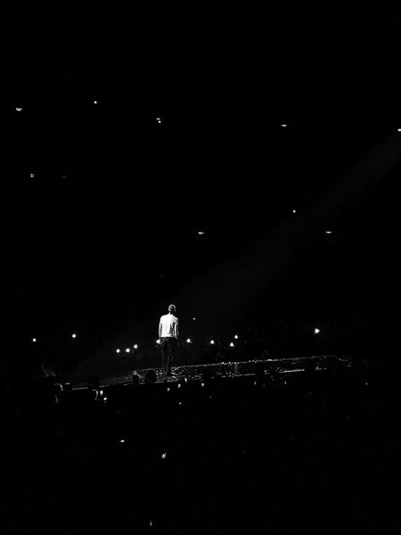 Music Concert Night Illuminated Real People One Person Stage - Performance Space Arts Culture And Entertainment Man Standing Standing Stage Light Singer  Enriqueiglesias Ericsson Globe Stockholm Sweden Blackandwhite Monochrome