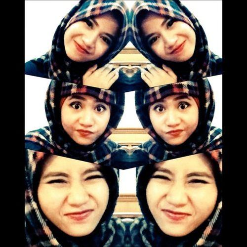 Twin Hijab Unyul Face ootd