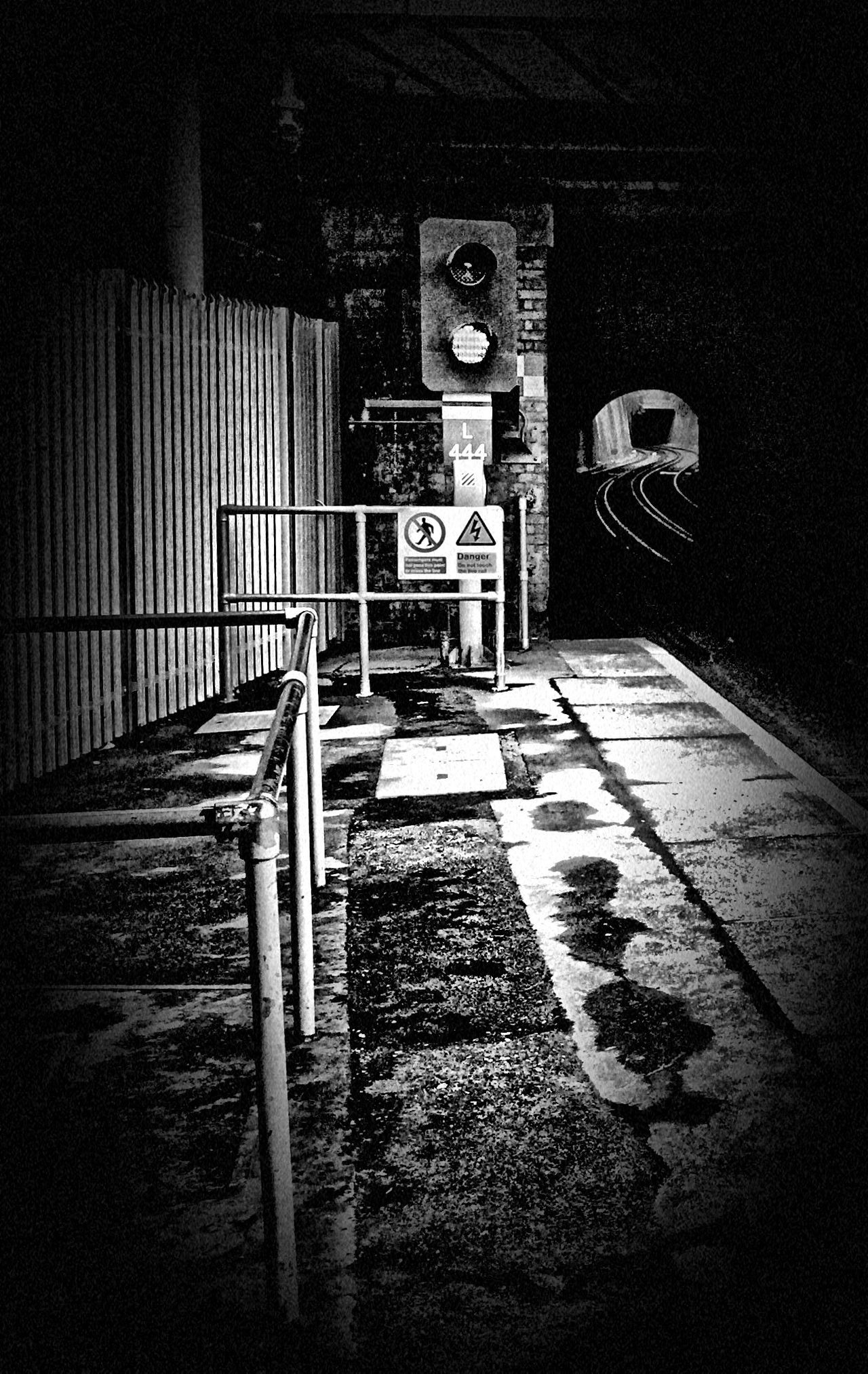 Platform 1 at Woolwich Arsenal. Tunnels Blackandwhite Photography Black And White Monochrome Street Photography Woolwich London