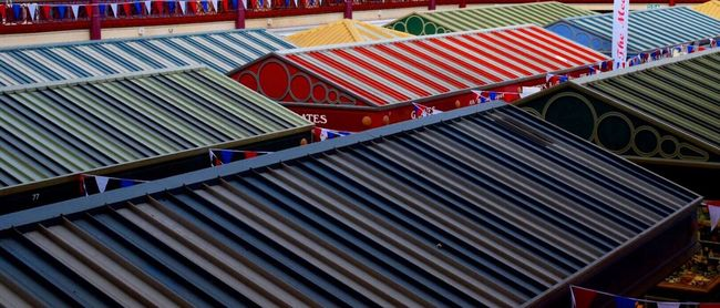 Derbyshire Derby Market Market Stall Marketplace Derby Market Colour Of Life Urban Exploration Urban Geometry Taking Photos Colour Dramatic Angles Colors and patterns