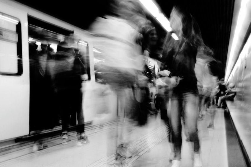 Daytoday Subway Nonstop Eyeem Bcn Long Exposure