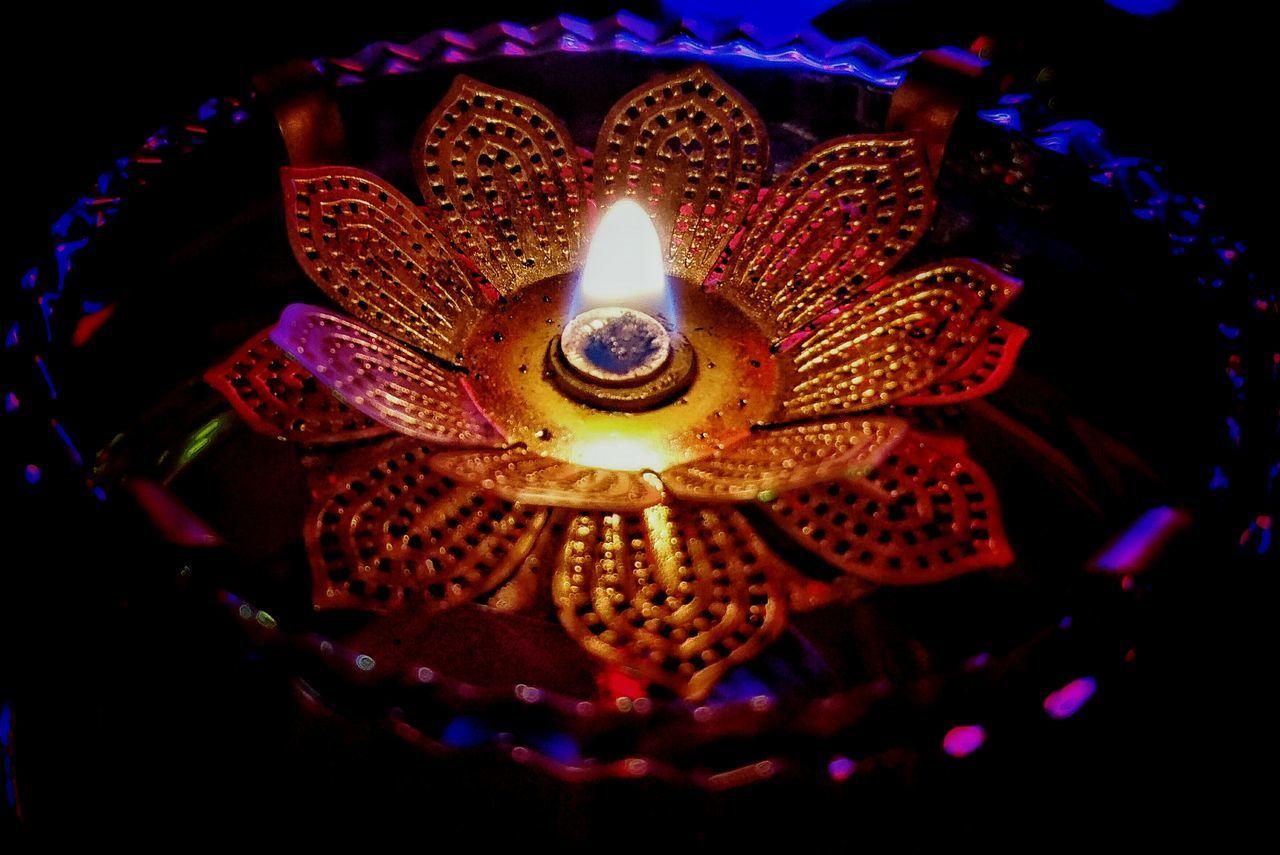 flame, candle, burning, glowing, celebration, decoration, lighting equipment, heat - temperature, diya - oil lamp, illuminated, diwali, oil lamp, tea light, no people, indoors, night, close-up