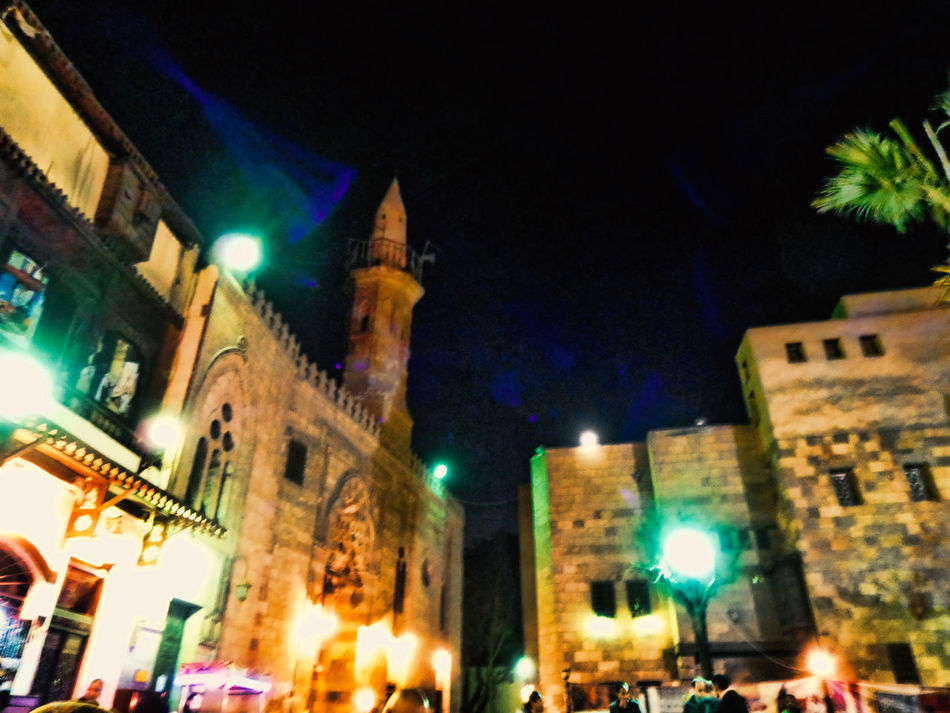 Illuminated Night Architecture Building Exterior Sky Outdoors Mosque Masjid Mosques Of The World Egypt Cairo A Night Out.. Cultures Hanging Out With Friends Religion City Built Structure Architecture Islamic Cairo Mosque Photography Old Friends❤ Historical Place Sunset