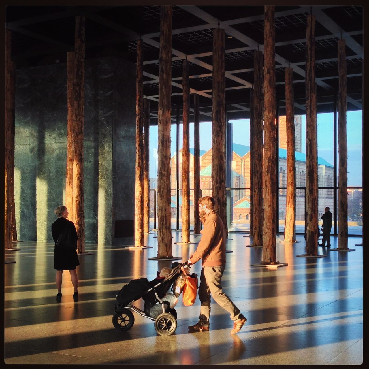 Adult Adults Only Architecture Art Day Full Length Gallery Indoors  Men Nationalgallery Neue Nationalgalerie People Real People Sunlight And Shadow Togetherness Two People Wellbeing Women Young Adult