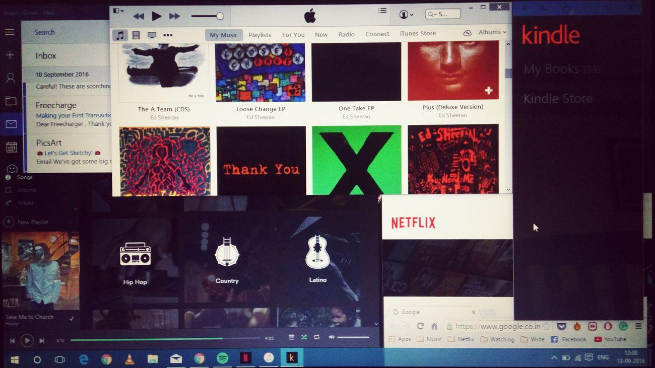 Technology OD Internet Addiction Choices Spotify♪♡ Itunes Netflix Kindle Mail Windows10