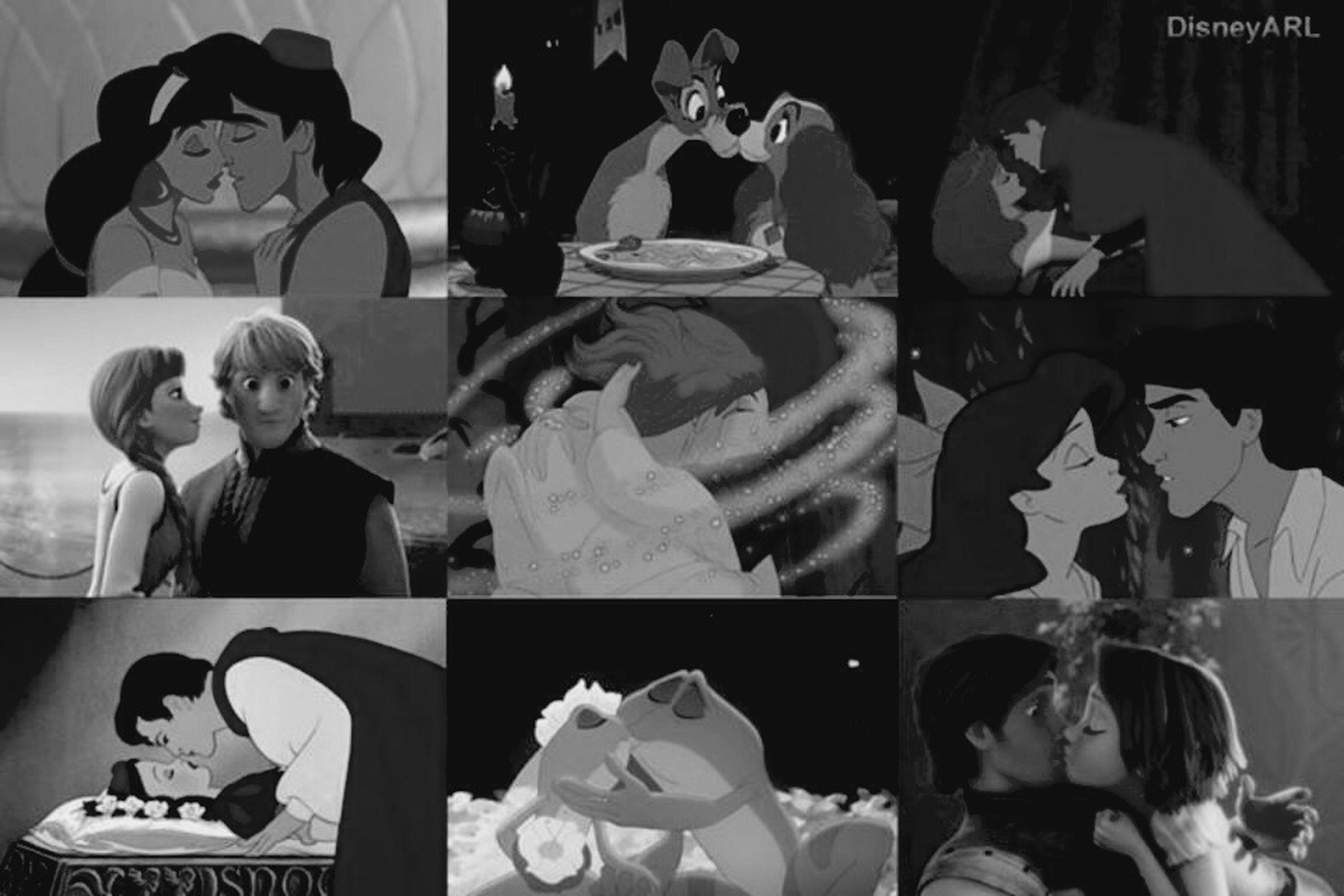 Saint Valentine's Day Disney Kisses ♥ Black & White