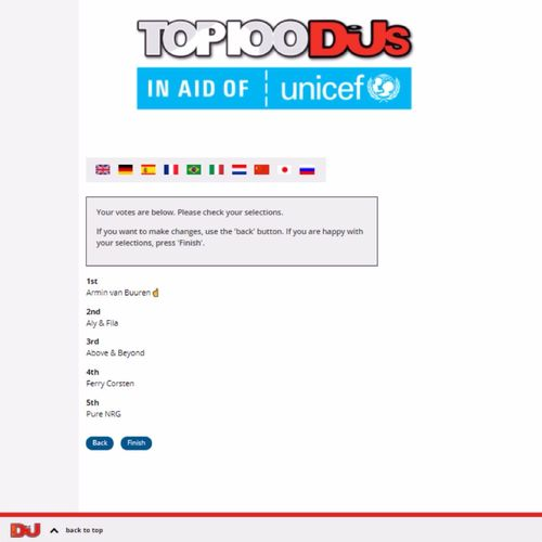 MY Vote FOR DJMag Top 100 Djs 2017 : 1. Armin Van Buuren ☝ |AvB| 2. Aly & Fila /FSOE\ 3. Above & Beyond \A&B/ 4. Ferry Corsten ~FC~ 5. Pure NRG \ₒGO&Sₒ/ #Unicef #UnicefItalia #UnicefUK #UnicefUSA #AvB #FSOE #AB #FC #GOS #ArminVanBuuren #AvBFamily #ASOTFamily #ArmadaFamily #AlyandFila #FSOE #FSOEFamily #AboveandBeyond #ABFamily #ABGTFamily #AnjunaFamily #FerryCorsten #FCFamily #CorstensCountdown #CCFamily #PureNRG #GiuseppeOttaviani #GOOnAir #Solarstone #PureTrance #VivaLaTrance #WeAreTrance #SssssseriousTrance #SssssseriousUplifting #UpliftingTrance #UpliftingFamily #TranceFamily #DJMagTop100 #Top100DJs #DJMag #Top100DJs2017 Vote here —> http://top100djs.com 🎧