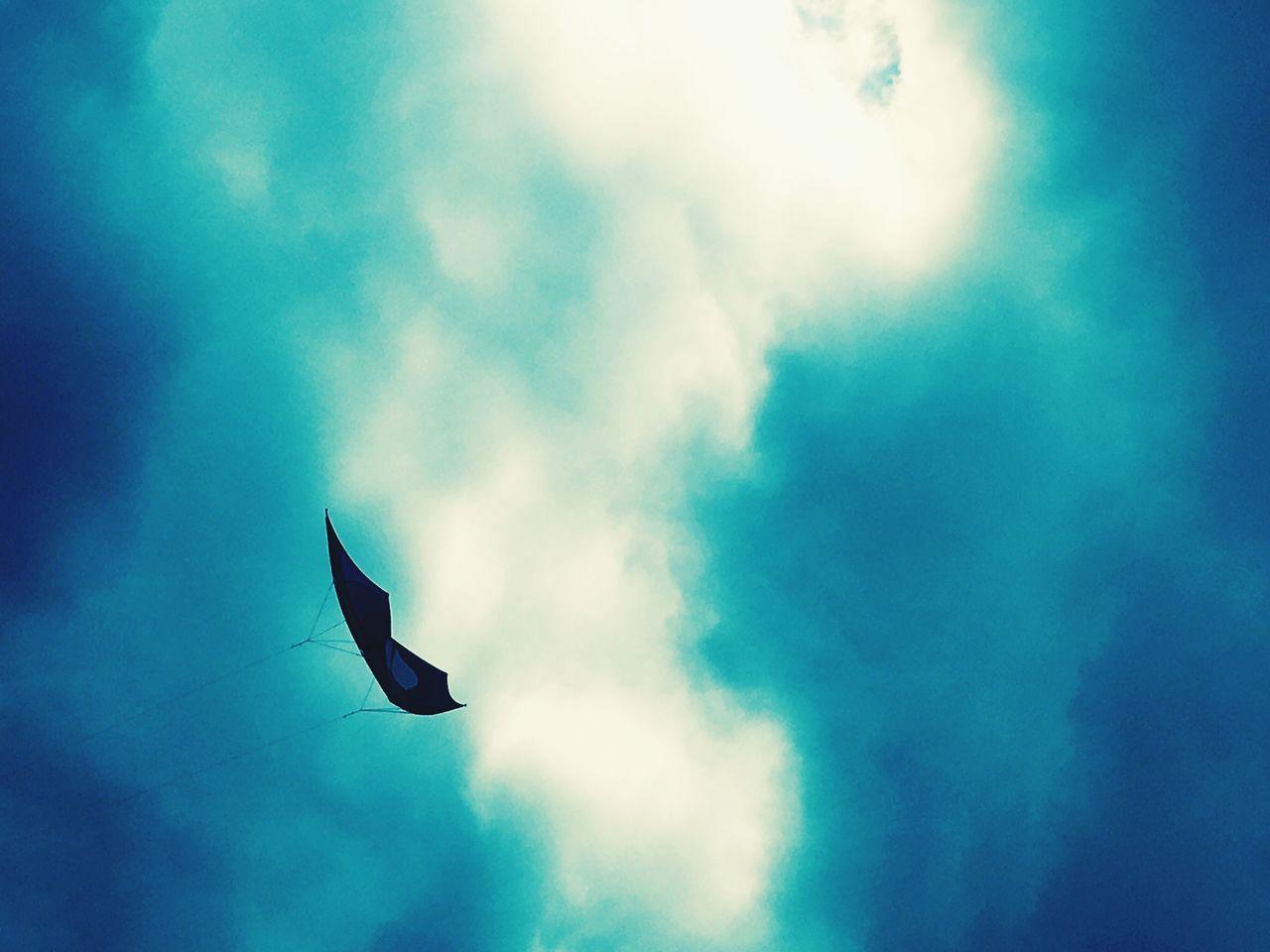 Soft Blue Sky Kite Kitesurfing Amaturephotography Power In Nature Natural Filters Lush LONDON❤ Hampstead Heath