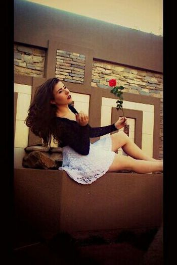 i spend most of my days chasing the wind...Girl Beautiful Flower Brunnette