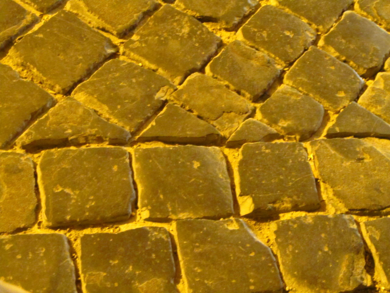 Backgrounds Close-up Gold Colored Large Group Of Objects Light Macro No People Pavement Pavement Patterns Pavemnet Stone Yellow Paint The Town Yellow Fashion Stories