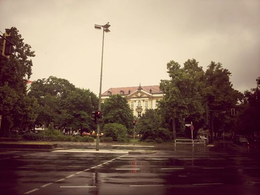 Rainy bits of West Berlin at Charlottenburg by Marie Elliott