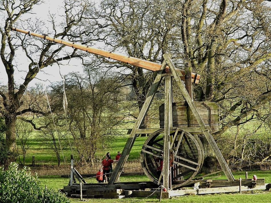 1200s Battle Castle Day Fire Fire Ball Historic Historical Building Historical Monuments History Knights No People Old Buildings Outdoors Trebuchet Tree War Warwick Warwick Castle Warwickshire Weapon Wood Wood - Material