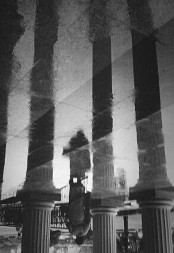 Rain Shadows & Lights Monochrome DailyLifeOfStrangers #exop #phoneclick #reflection