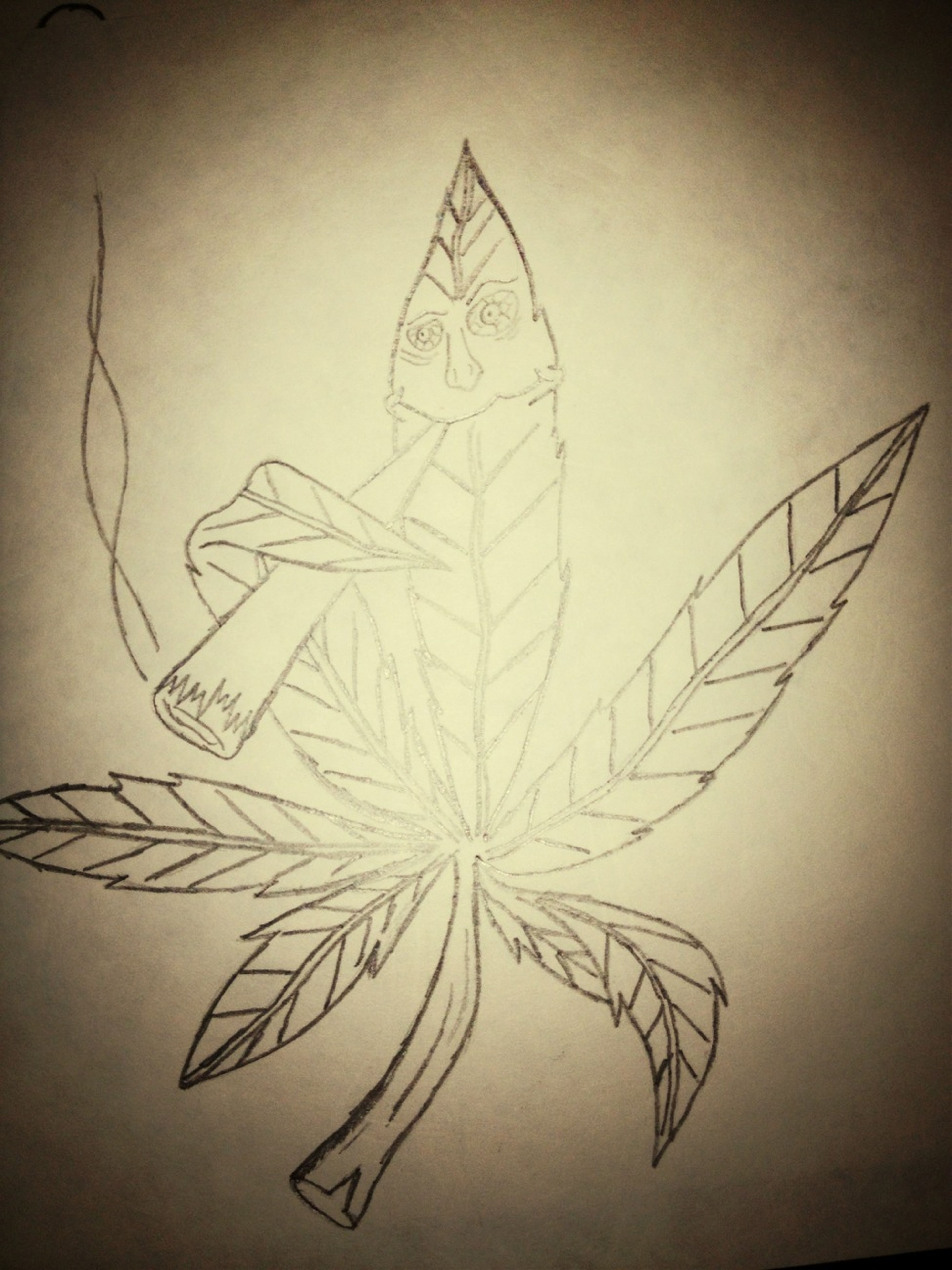Im Not A Smoker But I Thought Drawing This Would Be Cute And Funny