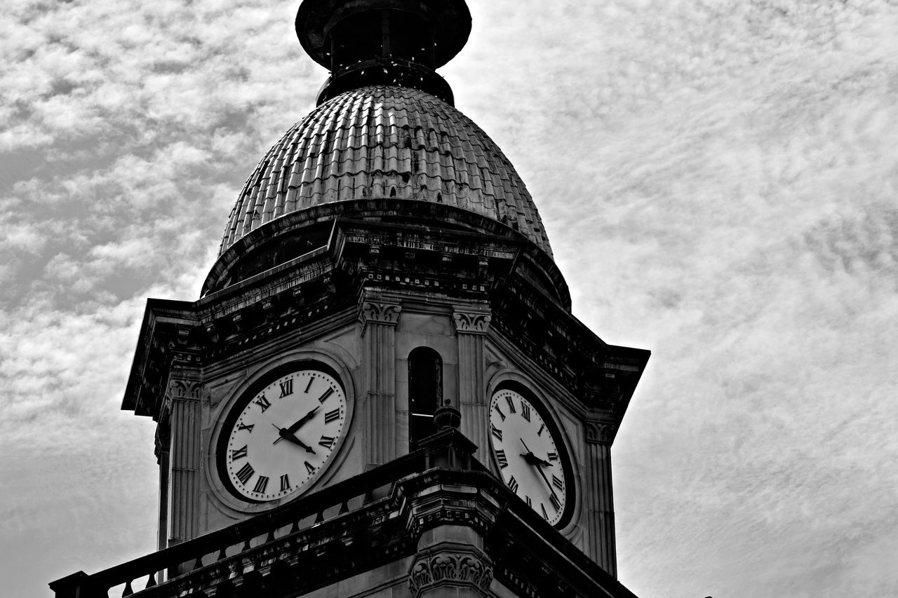 Architectural Column Architecture Blackandwhite Building Exterior Built Structure Clock Tower Cloud - Sky Culture Day Famous Place History Local Landmark Low Angle View Memories Michigan Monument Outdoors Sky Tall - High The Past Tourism Tower Modestmills