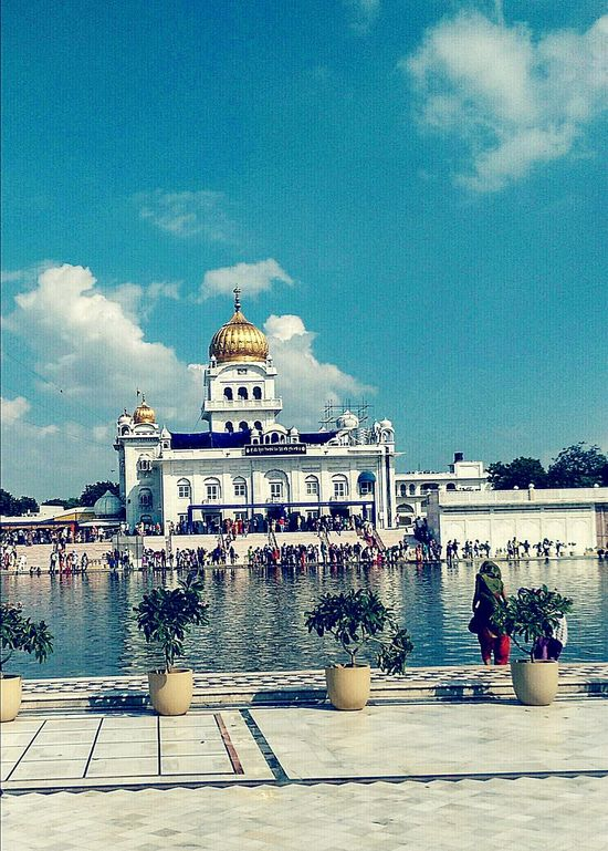 Gurudwara BanglaSahib Place Of Worship Beautiful Enjoying The Veiw