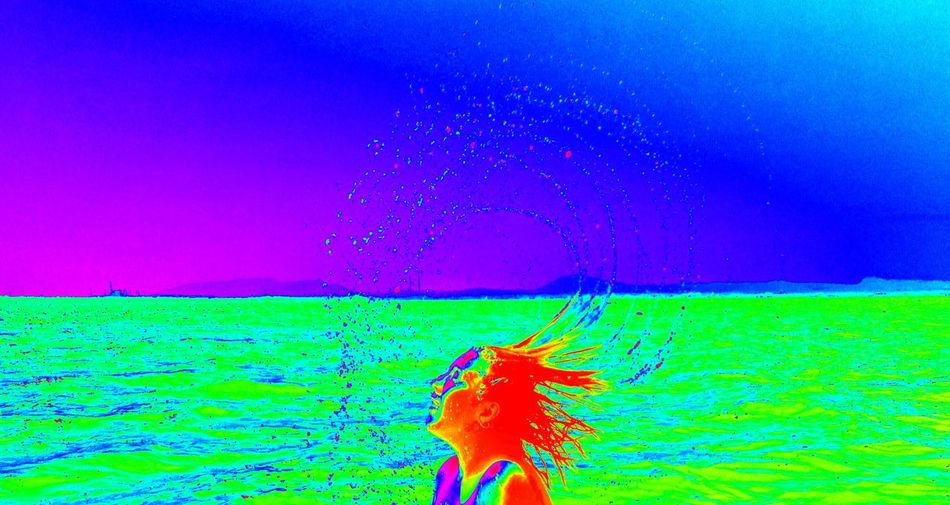 TakeoverContrast Vibrant Color Blue Red Multi Colored Water Rural Scene SeaCapturedonp9 Green Color Nature Overnight Success Tranquility Pink Color Color Enhanced Colorful Scenics Agriculture Tranquil Scene Carefree Dramatic Sky Beauty In Nature Broken Patterns Patterns In Nature Colors And Patterns