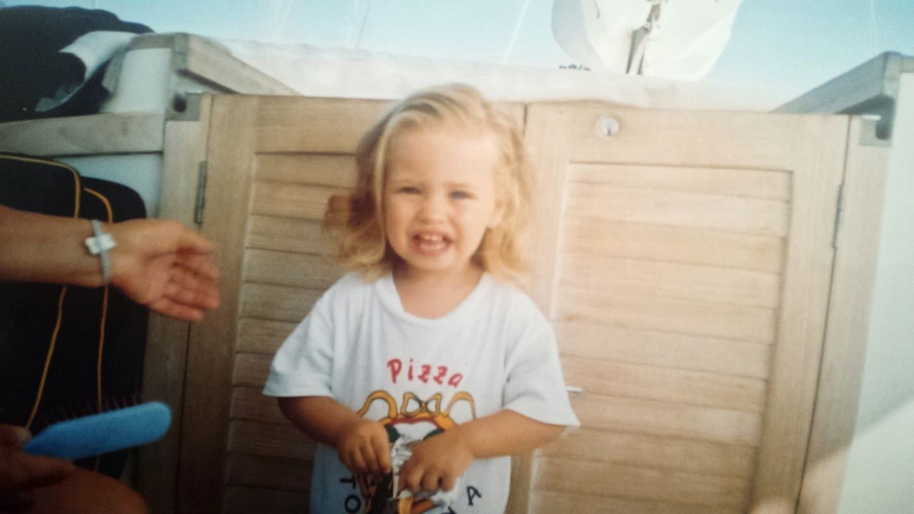 Me Baby Littlegirl Littlesushi Cute Smile That's Me Blonde Pizza Throwback