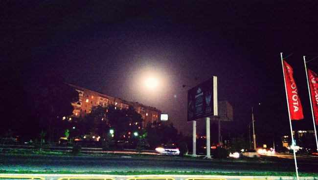 last night... full moon Bishkek Moon Sky Night
