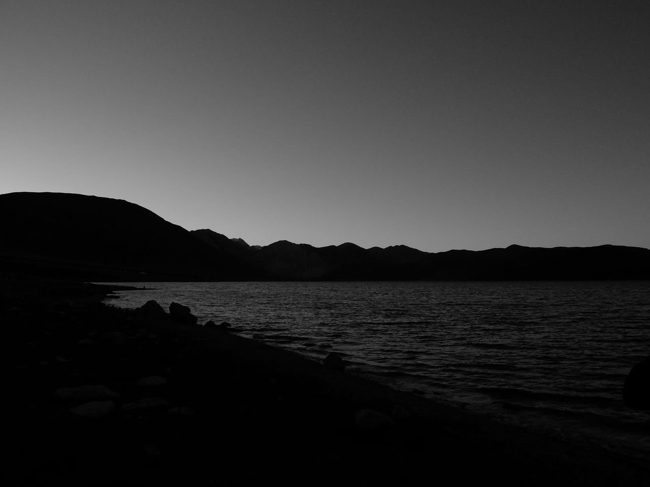 Beach Beauty In Nature Black And White Day Jammu And Kashmir Landscape Leh Ladakh Mountain Nature No People Outdoors Pangong Lake Pangong Tso Sand Scenics Sea Silhouette Sky Tranquil Scene Tranquility Water