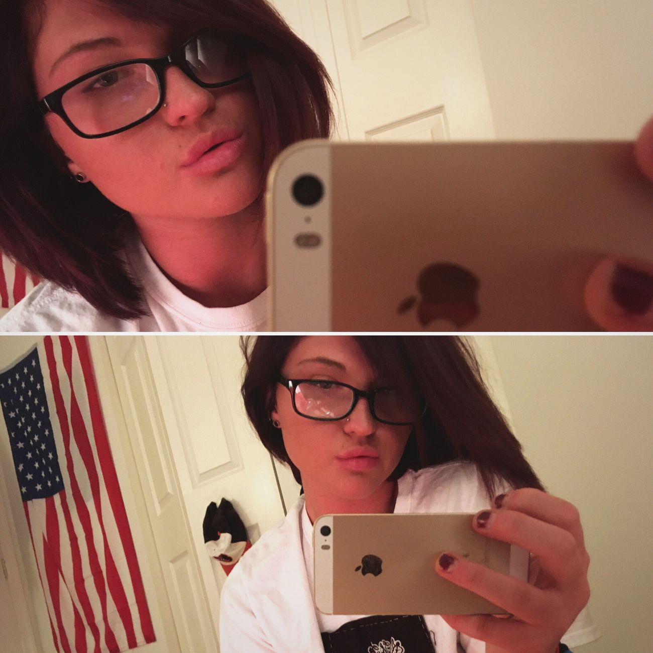 Glasses Dark Hair Selfies Girl Selfie Insomnia