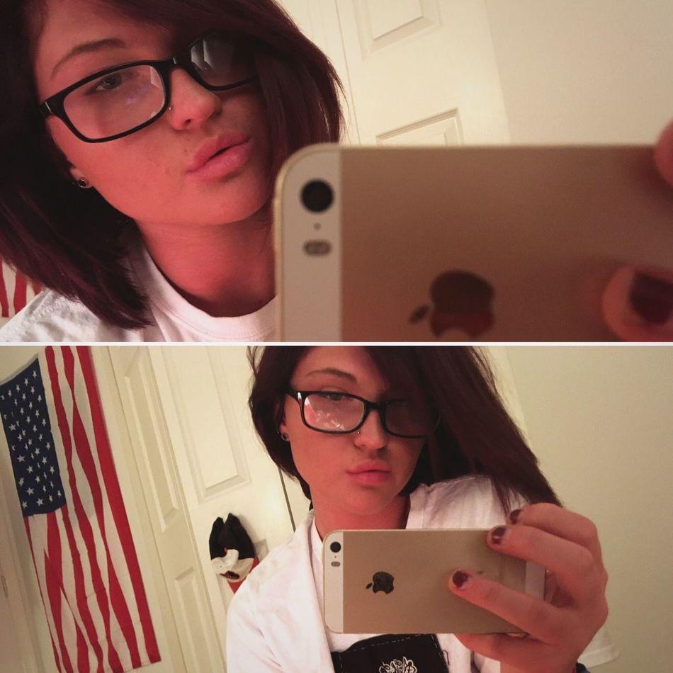 Glasses Dark Hair Selfies Girl Selfie Insomnia