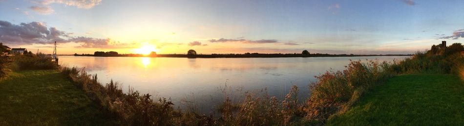 River Ouse East Yorkshire Riverbank Sunset