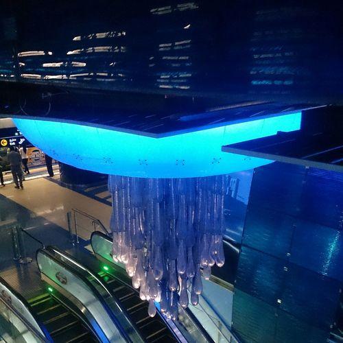 Hz339 Dubai City Of Art Blue Streamzoofamily A View From Dubai Metro Station Dubai Lover Cobalt Blue By Motorola