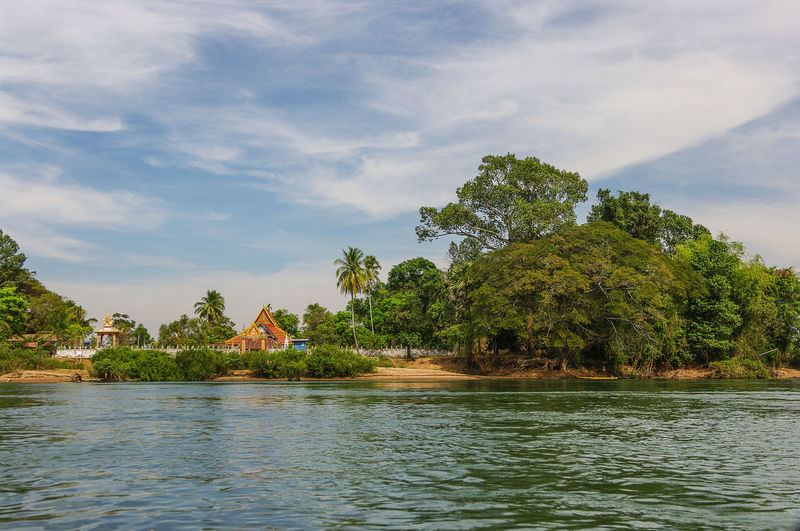 beautiful nature ASIA Beautiful Beauty In Nature Beauty In Nature Clouds And Sky EyeEm Nature Lover Green Idyllic Landscape Laos Leaf Nature Nature Photography Nature_collection Palms Pentax River Sky Sky And Clouds Traveling Tree Trees View Water Waterfront