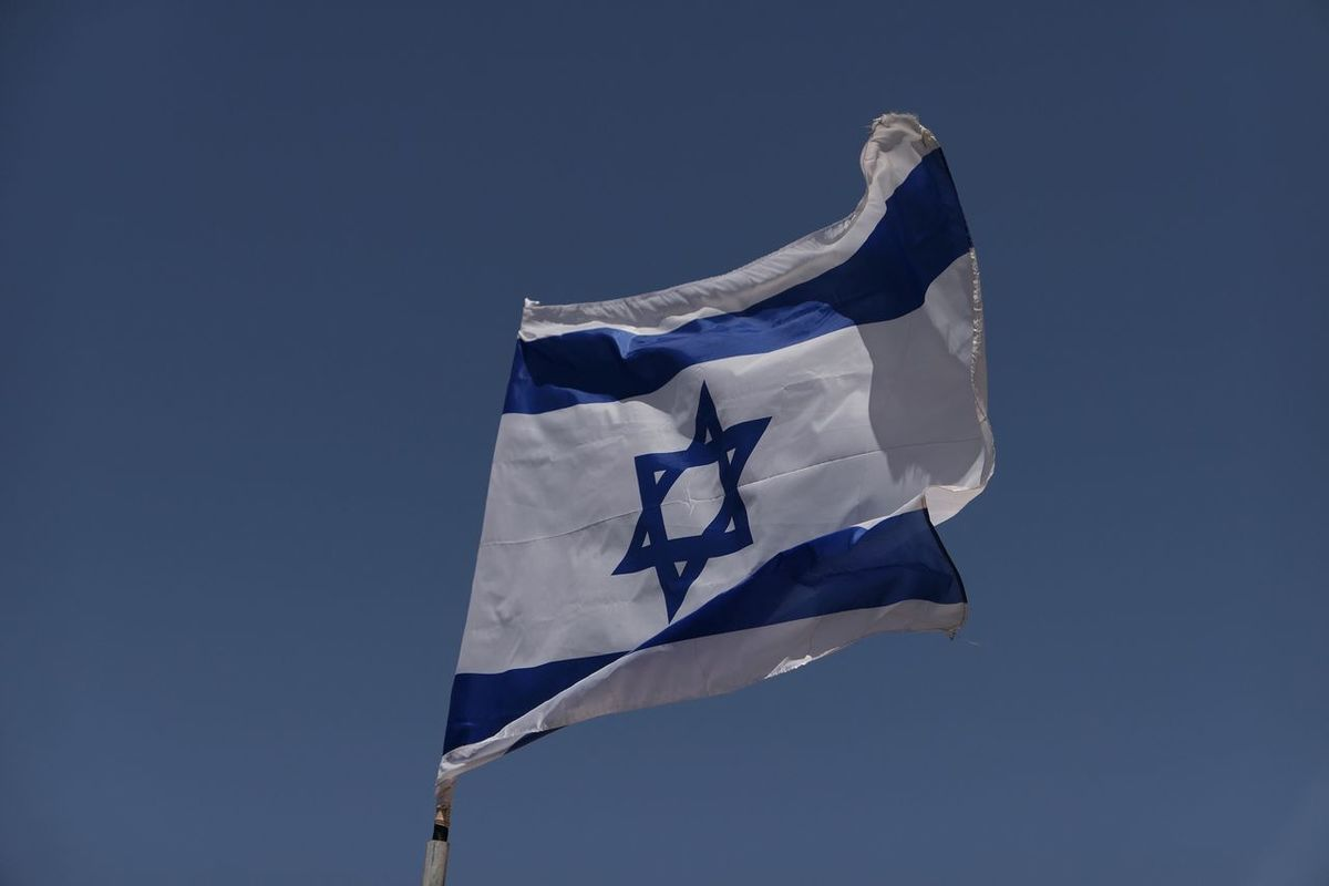 Patriotism Flag Blue National Icon No People Outdoors Clear Sky Israel Israeli Flag