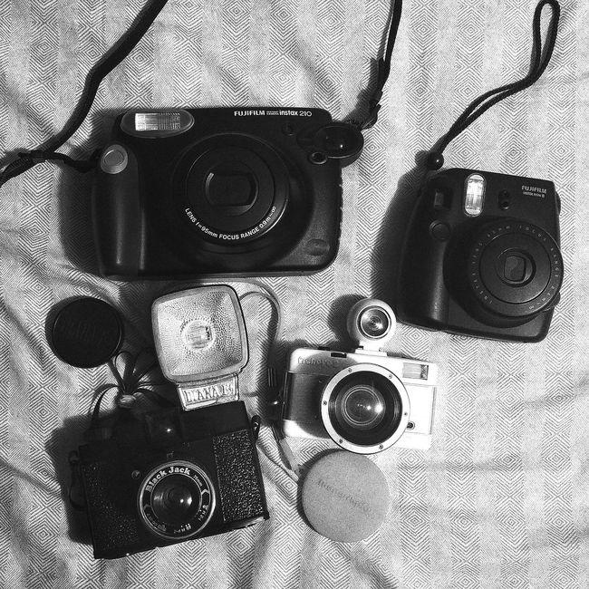 Analog camera. Taking Photos Enjoying Life Fujifilm Fujiinstant Instaxmini8 Instaxwide Lomography Lomografia Lomographyfilm Diana F+ Fisheye Camera - Photographic Equipment Cameraporn Analog Camera Analogphotography Analog