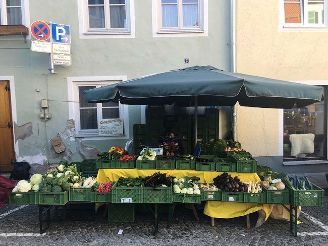 Bad Tölz Bauernmarkt Vegetable Market Market Bavarian Market Selling Vegetables