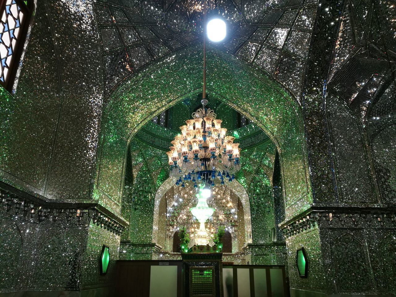 Ali Ebn-e Hamza Holy Shrine in Shiraz, Iran. The interior of this Holy Shrine is all made by glasses Architecture Traveling EyeEm Iran♥ Travel Tourism Iran Middleeast Irantravel Travel Destinations Holyshrine Interior Architecture Glasses Glass Roof Glass Wall