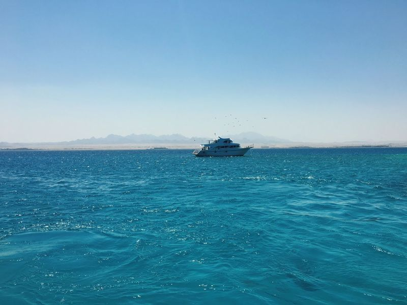 Sea Clear Sky Beauty In Nature Copy Space Water Waterfront Tranquility Nature Blue Scenics Transportation Outdoors Day Rippled Nautical Vessel No People Tranquil Scene Sailing Sky EyeEmNewHere