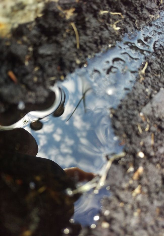 """The Great Outdoors - 2016 EyeEm Awards """"A tiny river runs towards me"""" in this macro-puddle selfie reflection of me taking this picture... As Shot Purist No Edit No Filter Pure Beauty Selfie Portrait Pattern Texture Patterns Textures Abstract Background Backgrounds My Style My Life Life Is Beautiful Reflections In The Water Reflection_collection My Creativity In A Quiet Moment Pattern, Texture, Shape And Form Mobile Photography Outofthewayangles EyeEm Masterclass Digital Eye Masters Fresh On Eyeem  EyeEm Best Shots Reflection Perfection  Outdoor Photography Ilovephotography Eye For Photography Mypointofview Interesting Perspectives"""