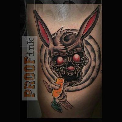 Bugsbunny Skullbunny Bunnyskulltattoo Bunnyskull proofink tattoo tattooidea loveit greatwork greatart proofinkbyboris