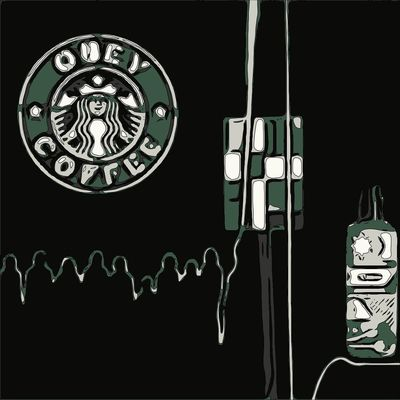 Obey Coffee ArtWork Graphics Design Freshness Mikefl99 Streamzoofamily Digital Art Abstract Freemix Pikazo