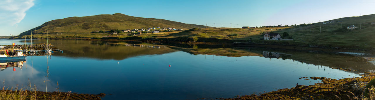 A panoramic view down the loch from Voe on Shetland Landscape Lochs Nature Outdoors Reflections Scotland Shetland Sky Voe Shetland