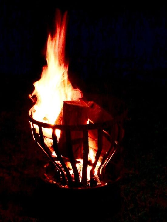 Fire Fireplace Fire Bowl Open Flame Flame Burning Heat - Temperature Warm Place Light Night Outdoors Glowing No People