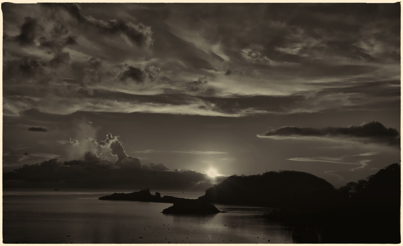 Beauty In Nature Black And White Collection  Blackandwhite Blackandwhite Photography Cloud - Sky Island Islandlife Nature Outdoors Sea Sillouette Sun Sunrise_sunsets_aroundworld Sunset_collection