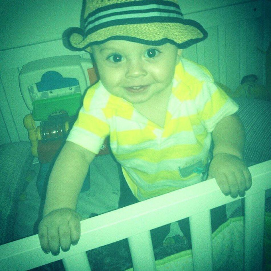 My nephew is soo stinking cute!!! He loves the camera! Baby Cute Fatcheeks Crib
