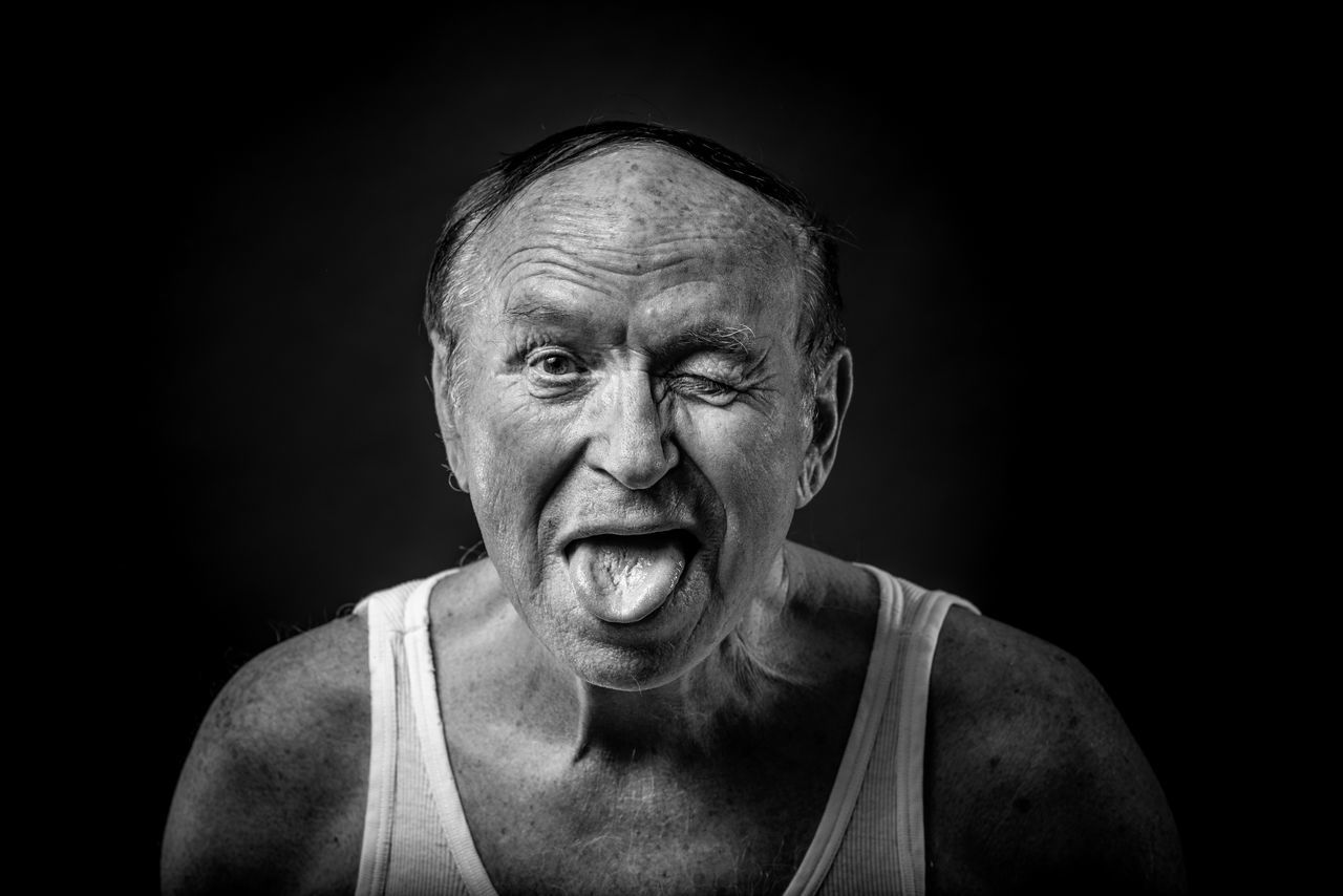 Adult Adults Only Black And White Black Background Black Background Blackandwhite Close-up Human Body Part Looking At Camera Looking At Camera Mouth Open One Man Only One Person One Senior Man Only Only Men People Portrait Portrait Photography Senior Adult Senior Men Studio Photography Studio Shot BYOPaper! The Portraitist - 2017 EyeEm Awards