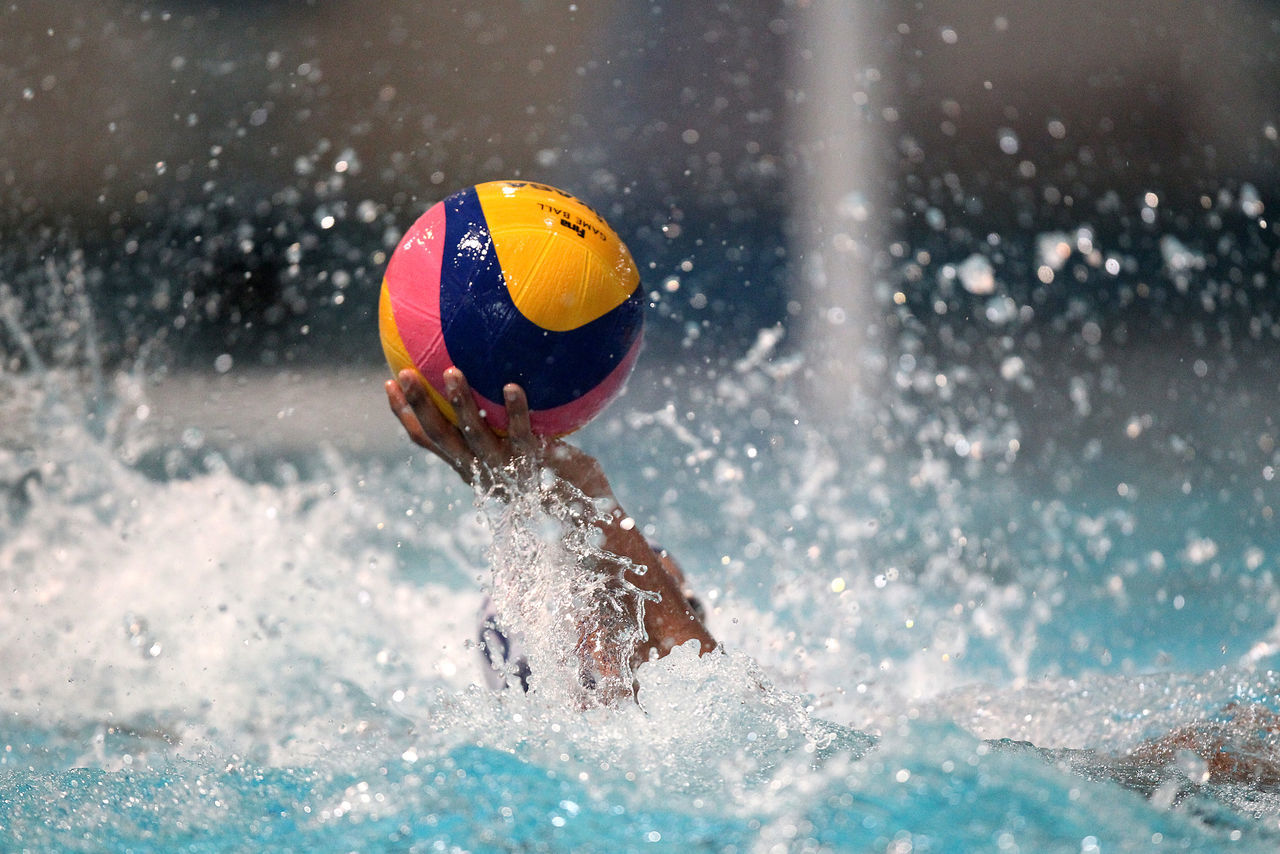 Action Ball Close-up Day Indoors  Motion Splashing Sport Sports Sports Photography Symbol Symbolism Wasserball Water Water Ball Water Polo Water_collection Waterpolo Watersport Watersports