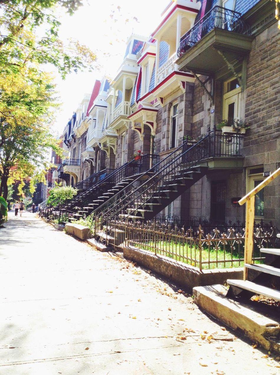 Petite rue tranquille de Montréal🏠 Montréal Rue Marathondemontreal Amies Walking