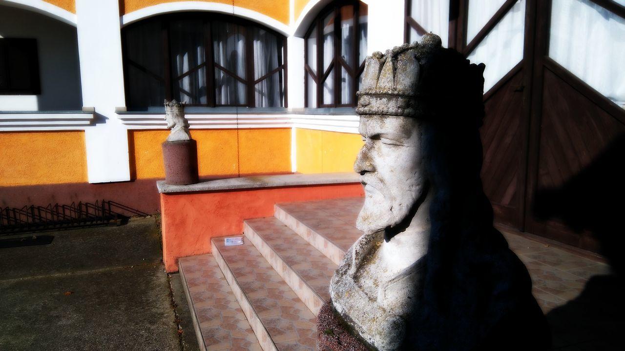 Made by Sony Xperia M4 Aqua Castle Day Explore Frozen Granary Kings Monastery Monk  River Road Sculpture Street Town Vas County Vas Megye Vasszécseny Village Winter