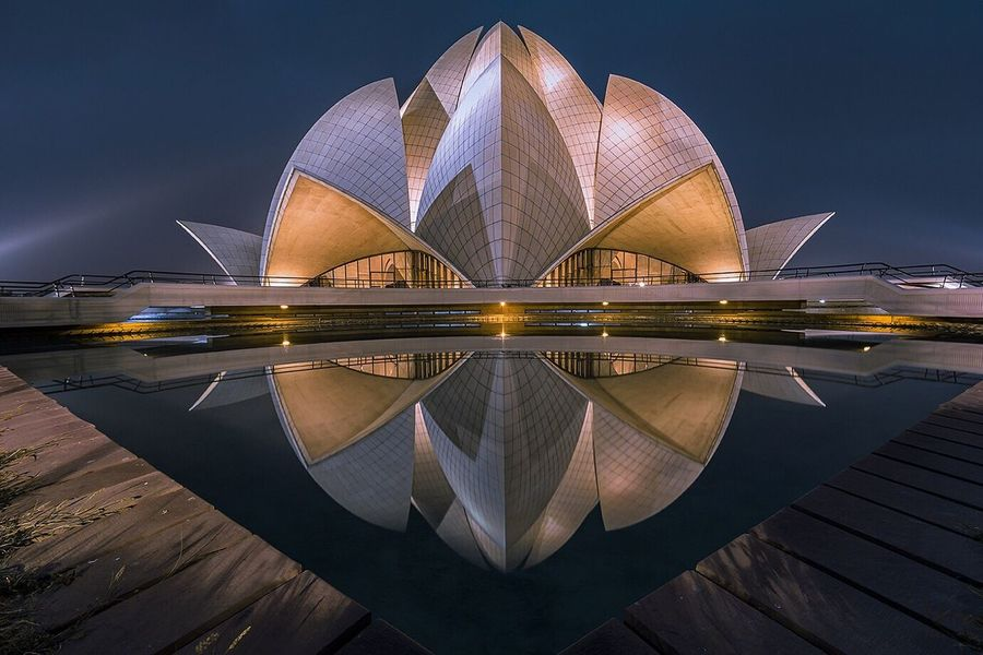 Lotus temple in blue hour.... Illuminated Architecture Travel Destinations Built Structure Building Exterior Cityscape EyeEm Gallery Urban Landscape EyeEm Best Shots - Architecture Architectural Detail Urbanphotography Reflection_collection Reflection Blue Hour Architectural Feature Architecture_collection EyeEm Best Shots - Landscape Travel Photography Nightphotography Long Exposure EyeEm Best Shots Exterior Architecturelovers Monument Delhi