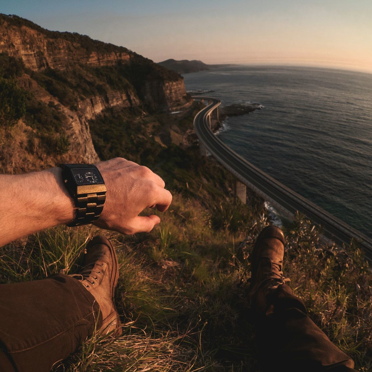 Freedom Wewood Palladium_boots EyeEm Best Shots Seacliff Bridge Hanging Out POV Australia