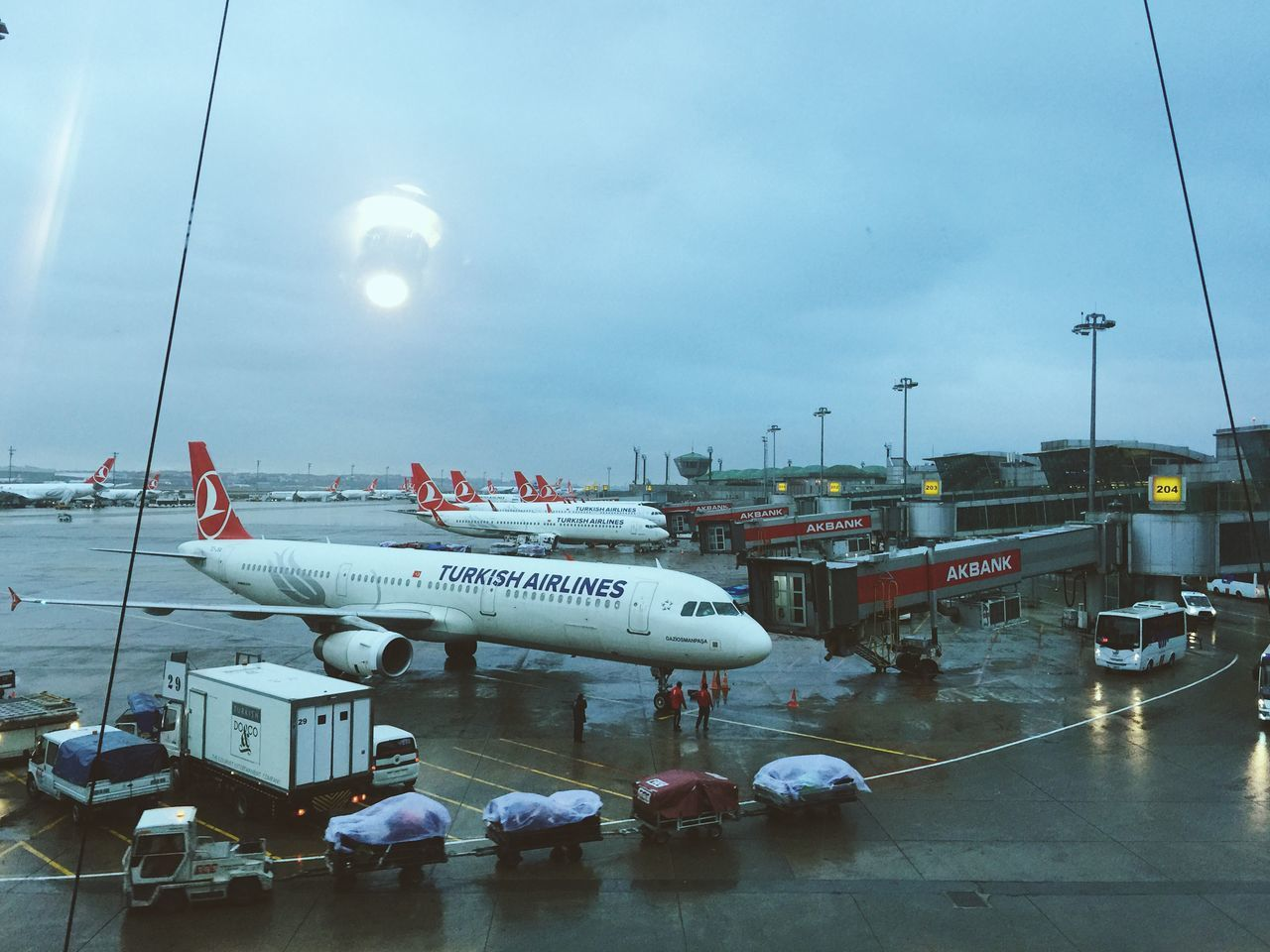 Turkish airlines planes are parked at Istanbul Ataturk Airport Airport Airport Departure Area Airport Runway Airport Terminal Architecture Beautiful EyeEm EyeEm Best Shots EyeEm Gallery Istanbul Istanbul Ataturk Airport Lagguage Mode Of Transport Plane Rain Sky Transportation Travel Turkey Turkish Airlines