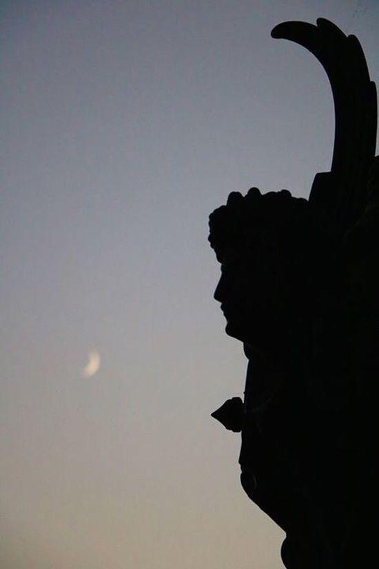 Geneva Statue Lacleman Moon Lune