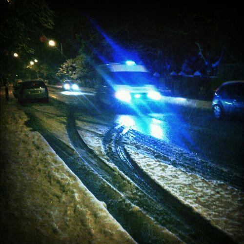 Weather Snow Cold London Police Emergency Transport POTD Emergency Vehicle